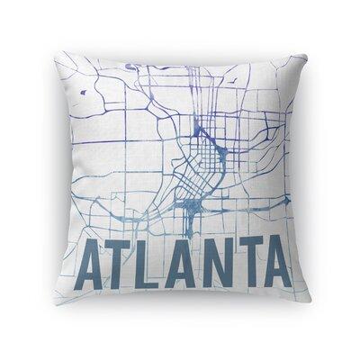 Atlanta Sunset Front Throw Pillow Size: 16 H x 16 W x 5 D, Color: Purple