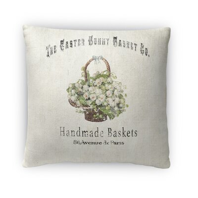 The Easter Bunny Basket Throw Pillow Size: 18 H x 18 W x 4 D