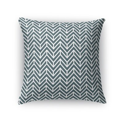 Chevron Throw Pillow Size: 18 H x 18 W x 5 D, Color: Teal