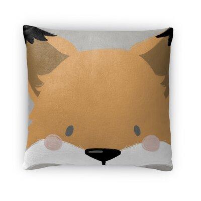 Fox Throw Pillow Size: 18 H x 18 W x 4 D