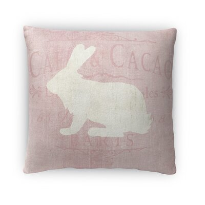 White Bunny Throw Pillow Size: 16 H x 16 W x 4 D