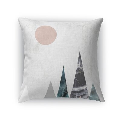 Mountains Throw Pillow Size: 16 H x 16 W x 5 D