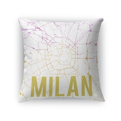 Milan Front Throw Pillow Size: 16 H x 16 W x 5 D, Color: Yellow