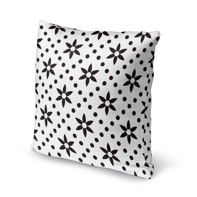 Flowers with Dots Accent Pillow Size: 16 H x 16 W x 5 D