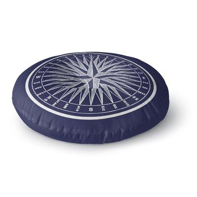 Melton Compass Round Floor Pillow Size: 23 H x 23 W x 9.5 D
