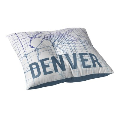Denver Sunset Front Floor Pillow Size: 23 H x 23 W x 9.5 D, Color: Purple