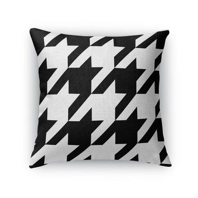 Houndstooth Throw Pillow Size: 16 H x 16 W x 5 D