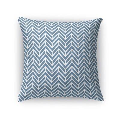 Chevron Throw Pillow Size: 24 H x 24 W x 5 D, Color: Ocean