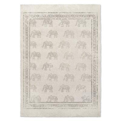 Netea Gray/Ivory Area Rug Rug Size: 8 x 10