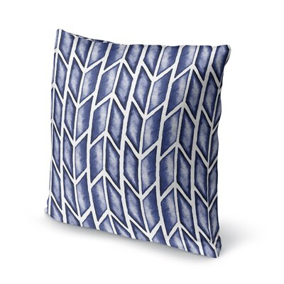 Arrows Accent Pillow Size: 18 H x 18 W x 5 D, Color: Blue/ White