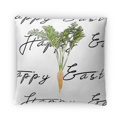 The Easter Carrot Throw Pillow Size: 18 H x 18 W x 4 D