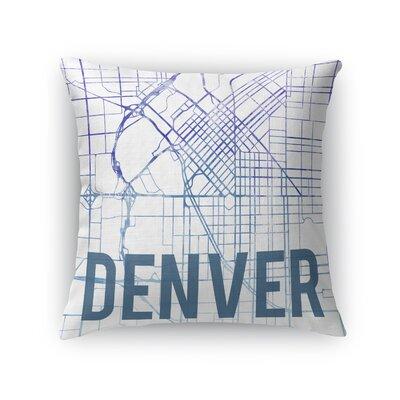 Denver Sunset Front Throw Pillow Size: 18 H x 18 W x 5 D, Color: Purple
