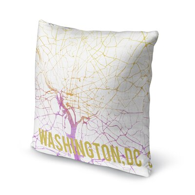 Wash DC Sunset Front Accent Pillow Size: 24 H x 24 W x 5 D