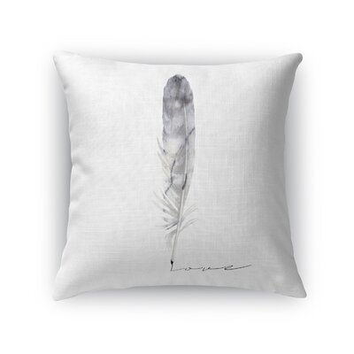 Feather Love Throw Pillow Size: 24 H x 24 W x 5 D