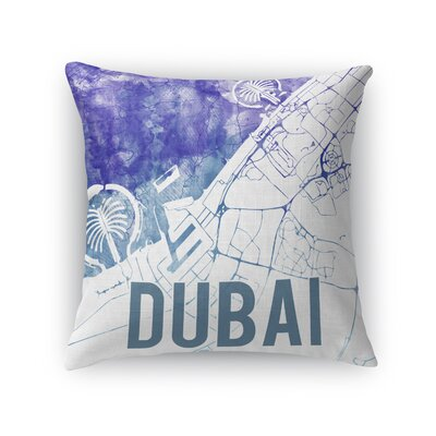 Dubai Sunset Front Throw Pillow Size: 18 H x 18 W x 5 D, Color: Purple