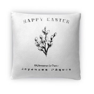 Easter Botanical Throw Pillow Size: 16 H x 16 W x 4 D