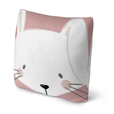 Bunny Throw Pillow Size: 16