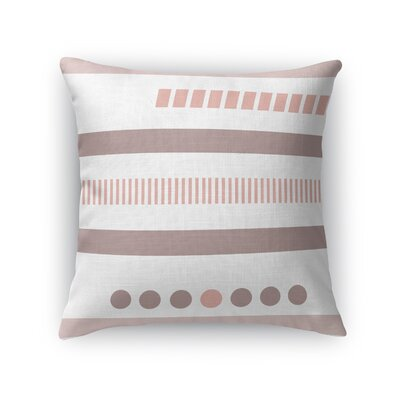 Geotribal Throw Pillow Size: 18 H x 18 W x 5 D, Color: Rose