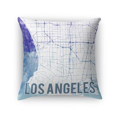 La Sunset Front Throw Pillow Size: 18 H x 18 W x 5 D, Color: Purple