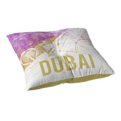 Dubai Sunset Front Floor Pillow Size: 23 H x 23 W x 9.5 D, Color: Pink