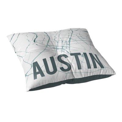 Austin Sunset Front Floor Pillow Size: 26 H x 26 W x 12.5 D, Color: Teal