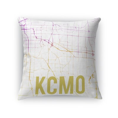 Kcmo Sunset Front Throw Pillow Size: 16 H x 16 W x 5 D, Color: Pink
