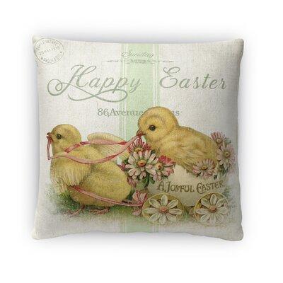 A Joyfull Easter Throw Pillow Size: 18 H x 18 W x 4 D