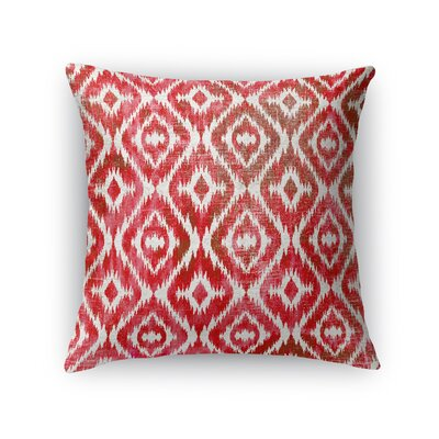 Delores Throw Pillow Color: Warm Pink, Size: 18 H x 18 W x 5 D
