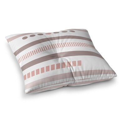 Geotribal Floor Pillow Size: 26 H x 26 W x 12.5 D, Color: Rose