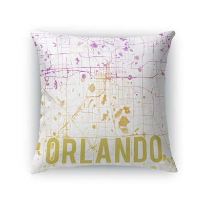 Orlando Sunset Front Throw Pillow Color: Pink, Size: 24 H x 24 W x 5 D