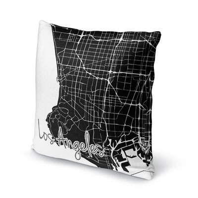 Los Angeles Accent Pillow Size: 24 H x 24 W x 5 D