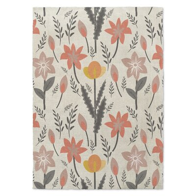 Bunny Love Trois Orange/Gray Area Rug Rug Size: Rectangle 8 x 10