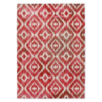 Delores Warm Red Area Rug Rug Size: 3 x 5