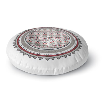 Tribal Tango Round Floor Pillow Size: 26 H x 26 W x 12.5 D, Color: Red