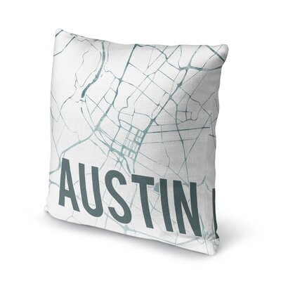Austin Sunset Front Accent Pillow Size: 18 H x 18 W x 5 D, Color: Green/ White