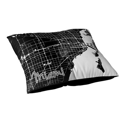 Miami Floor Pillow Size: 23 H x 23 W x 9.5 D