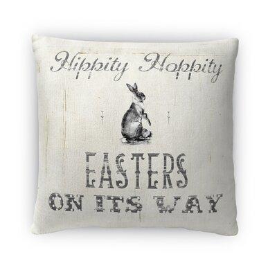 Hippity Hoppity Throw Pillow Size: 18 H x 18 W x 4 D