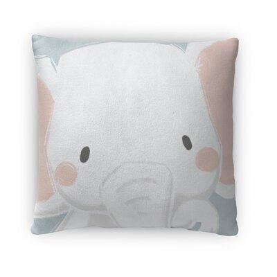 Elephant Throw Pillow Size: 16 H x 16 W x 4 D