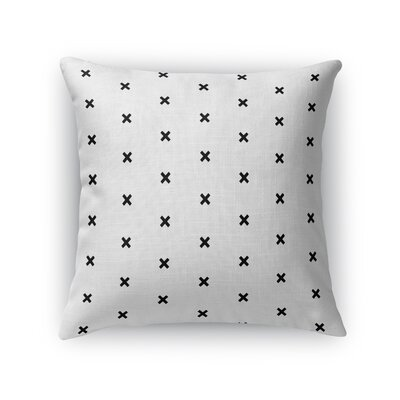 Cross Hatch Throw Pillow Size: 18 H x 18 W x 5 D