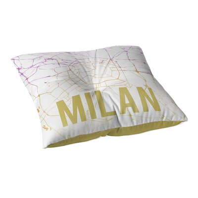 Milan Sunset Front Floor Pillow Size: 23
