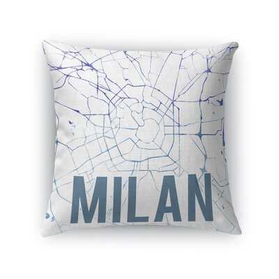 Milan Front Throw Pillow Size: 18 H x 18 W x 5 D, Color: Blue