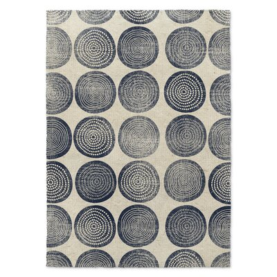 Around and Around Gray Area Rug Rug Size: 3 x 5