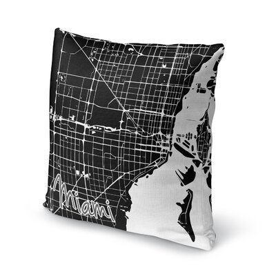 Miami Accent Pillow Size: 18 H x 18 W x 5 D