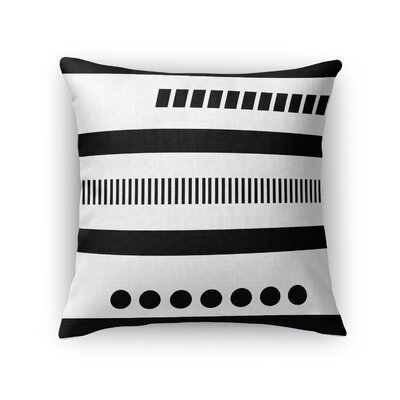 Geotribal Throw Pillow Color: Black, Size: 18 H x 18 W x 5 D