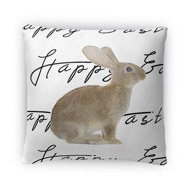 The Brown Easter Bunny Throw Pillow Size: 18 H x 18 W x 4 D