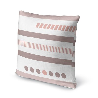 Geotribal Accent Pillow Size: 16 H x 16 W x 5 D, Color: Pink/ White