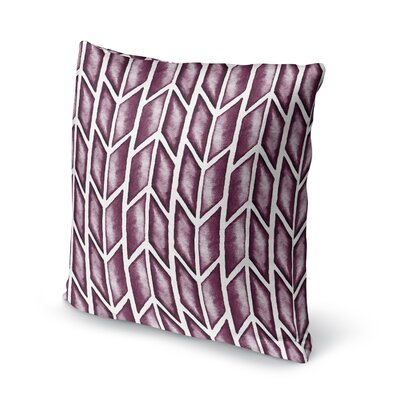 Arrows Accent Pillow Size: 16 H x 16 W x 5 D, Color: Purple