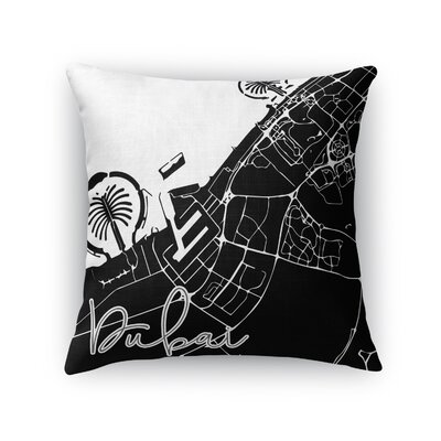 Dubai Throw Pillow Size: 16 H x 16 W x 5 D