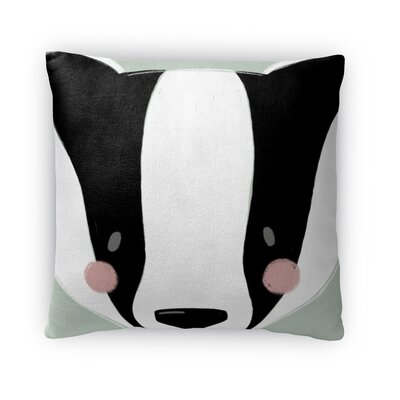 Badger Throw Pillow Size: 16 H x 16 W x 4 D