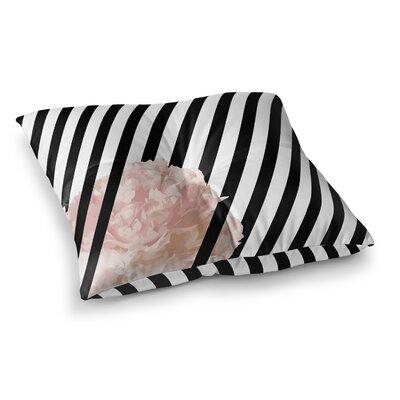 Peony Stripe Floor Pillow Size: 23